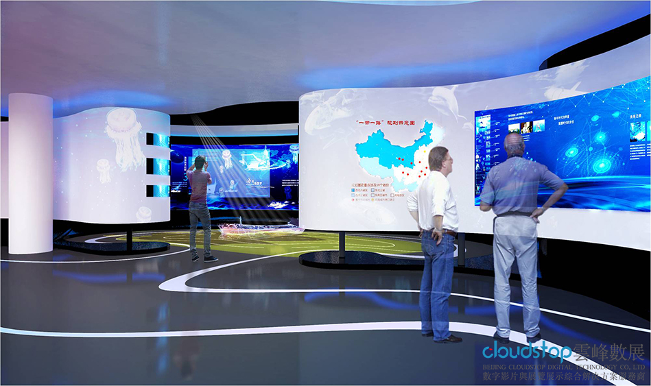 给大家分享新中式展厅设计构思