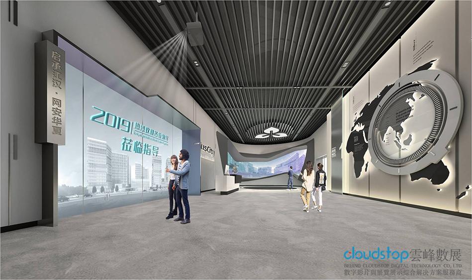 企业展厅怎么样设计开敞空间?